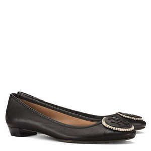 2ed2f0ccd0df08 Tory Burch Black New Women s York Snake Print Cap Toe Ballet Flats ...