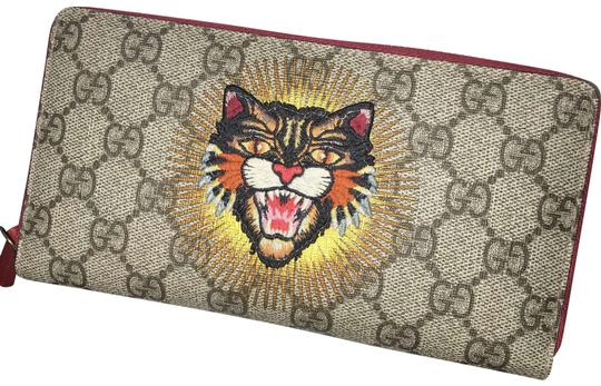 9c6cf2c564fa Gucci Tan with Red Lining Angry Cat Wallet - Tradesy