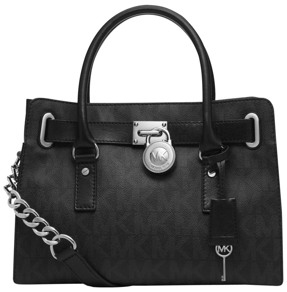 db5d138a4a22 MICHAEL Michael Kors Medium Hamilton E/W Signature Print Shoulder Saffiano / Leather Satchel in ...