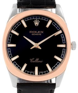 Rolex Rolex Cellini Danaos 18k White and Rose Gold Black Dial Watch 4243