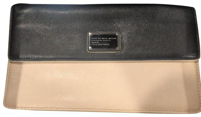 Item - Black and Cream Leather Clutch