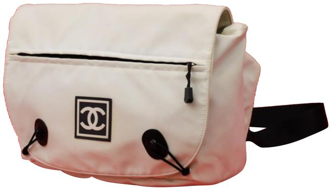 Item - Belt Extra Large Sports Cc Logo Fanny Pack Waist Pouch 234854 White Nylon Cross Body Bag