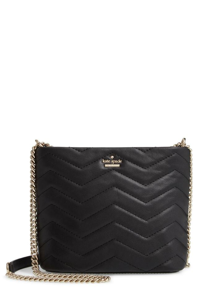 Kate Spade Reese Park Ellery Black Quilted Leather Cross Body Bag ... 9f68260781338