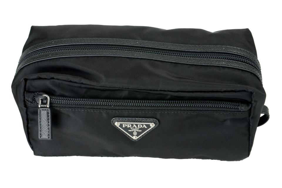 c27740622166 Prada Black V-13646 Cosmetic Bag - Tradesy