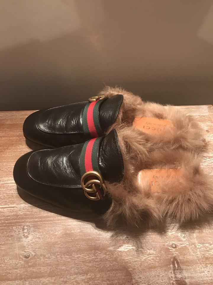 1fb599acb Gucci Princetown Leather Slipper with Double G Flats Size US 9 Wide ...