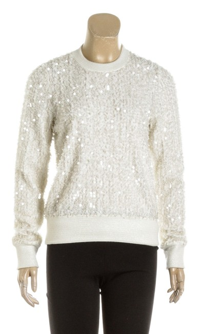 Item - Angora Long Sleeve Sequinned Knit (Size 36) 488508 Cream Top