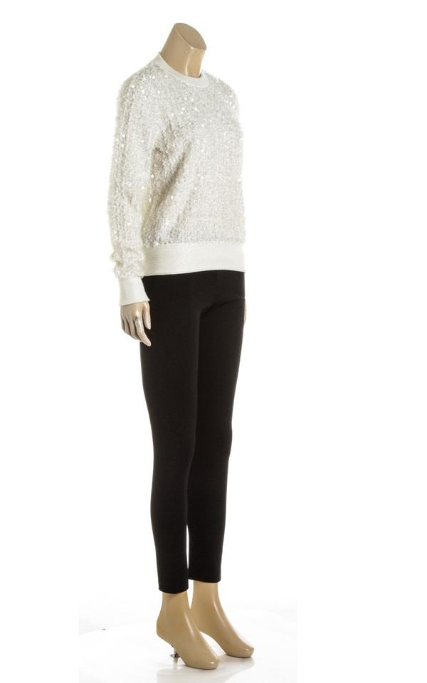 f391992af25 Chanel Angora Long Sleeve Sequinned Knit (Size 36) 488508 Cream Top ...