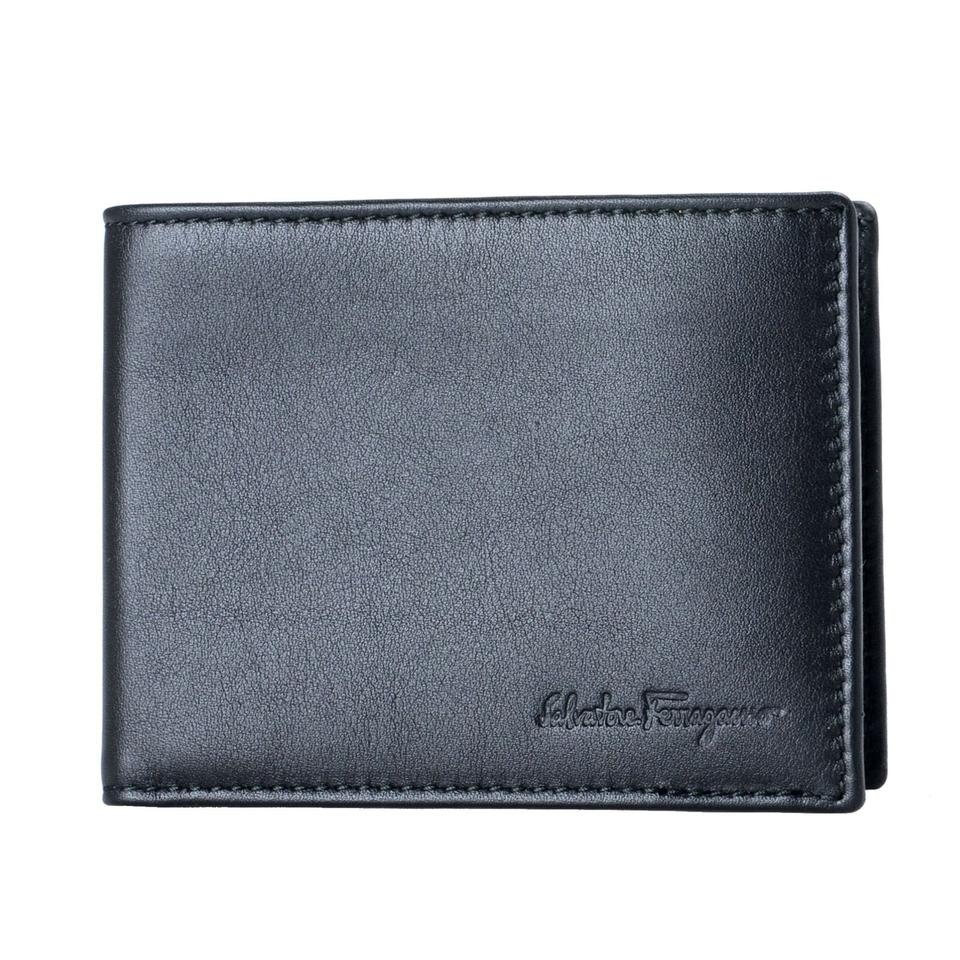 c1ce5c5964d Salvatore Ferragamo Salvatore Ferragamo 100% Calf Leather Men s Black  Bifold Wallet Image 0 ...