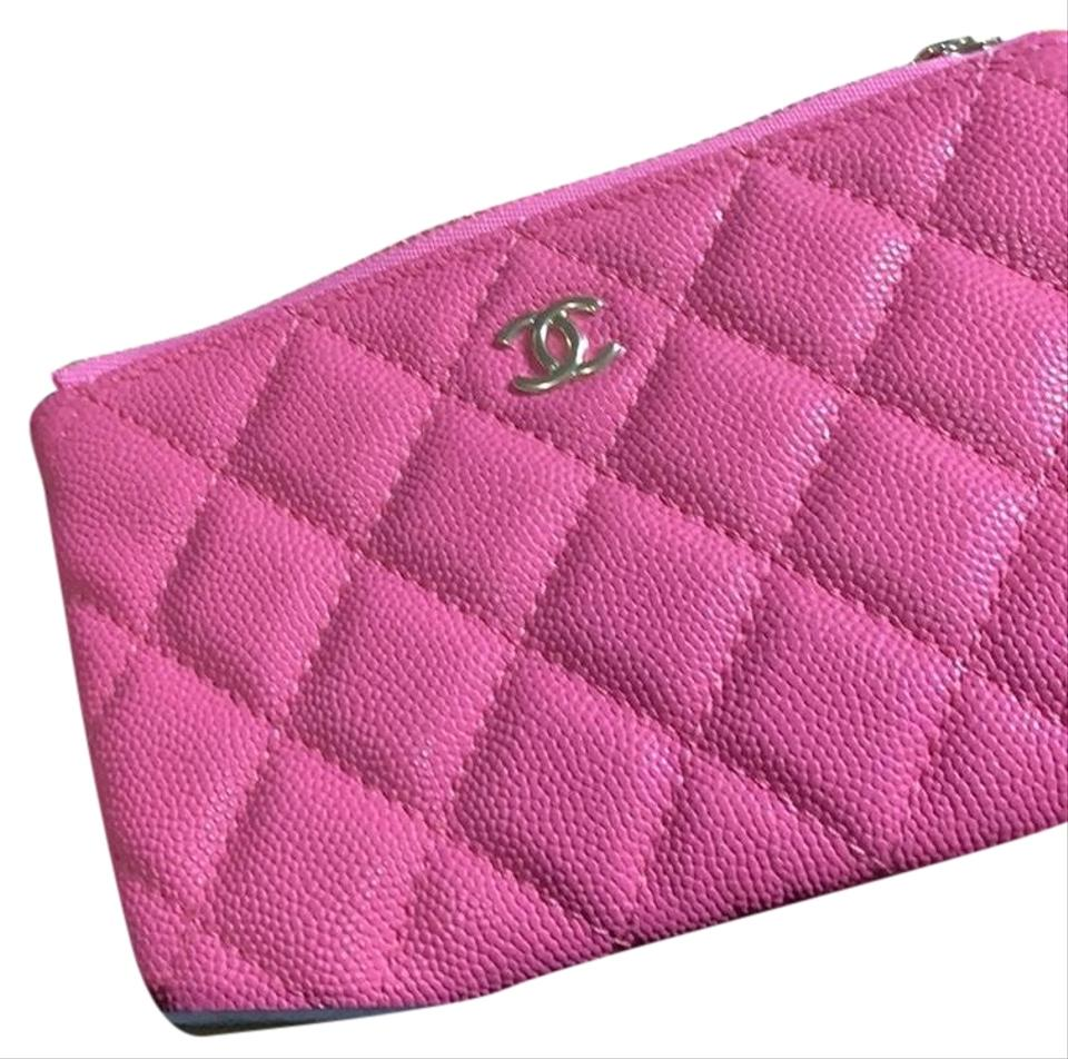 c799d1522fea Chanel Pink O-case Zip Pouch Cosmetic Bag - Tradesy