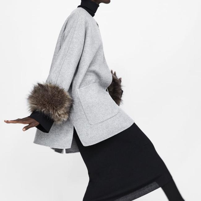 Zara Fur Coat Image 3