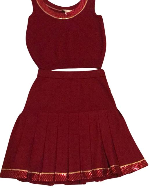 Item - Burgundy Evening Skirt Suit Size 6 (S)