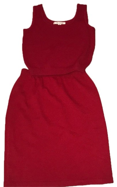 Item - Red Outfit Skirt Suit Size 4 (S)