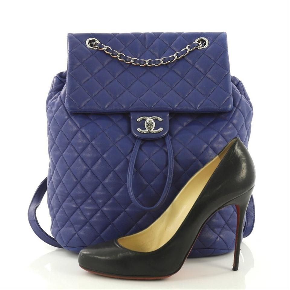 f70be2388953 Chanel Urban Spirit Quilted Large Blue Lambskin Backpack - Tradesy
