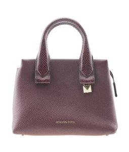Michael Kors Leather Tote in Burgundy