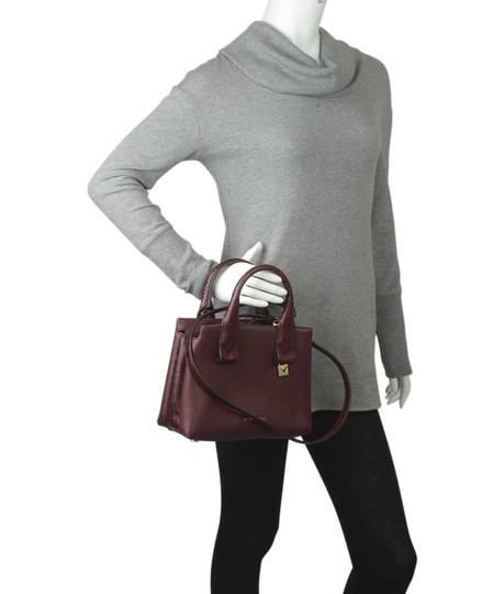 Michael Kors Leather Tote in Burgundy Image 1