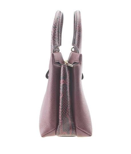 Michael Kors Leather Tote in Burgundy Image 3