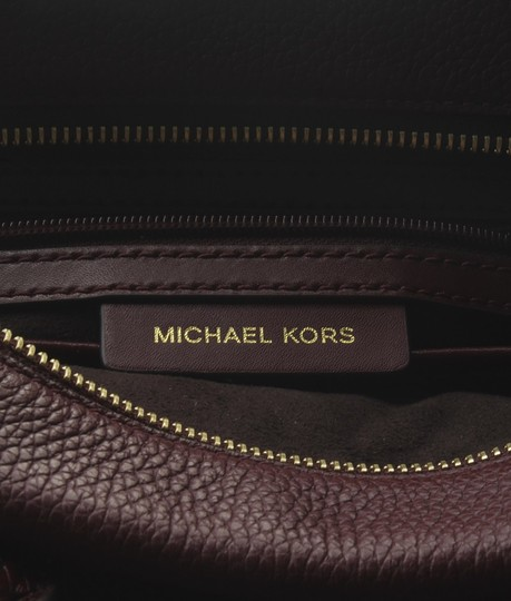 Michael Kors Leather Tote in Burgundy Image 9