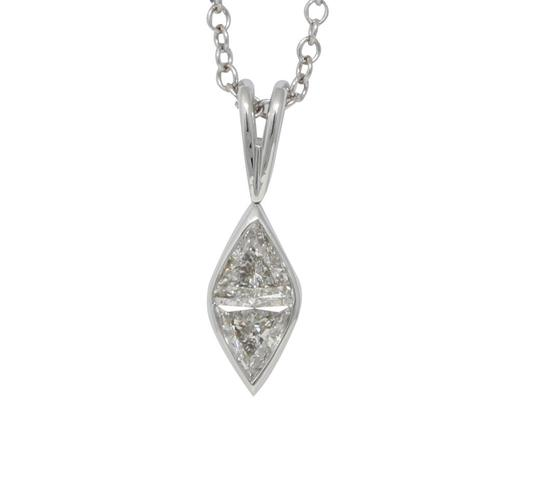 Preload https://img-static.tradesy.com/item/24978636/white-gold-marquise-shape-princess-and-diamond-pendant-059-ct-c31000172-necklace-0-0-540-540.jpg