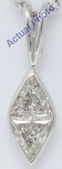 CaratsDirect2U Gold Marquise Shape Princess & Diamond Pendant 0.59 Ct C31000172 Image 2