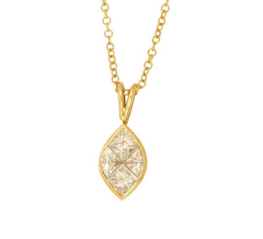 Preload https://img-static.tradesy.com/item/24978640/cara-couture-jewelry-gold-princess-marquise-shape-and-diamond-pendant-11-ct-h-vs-c31000173-necklace-0-0-540-540.jpg