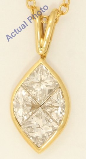 Cära Couture Jewelry Gold Princess Marquise Shape & Diamond Pendant 1.1 Ct H Vs C31000173 Image 2
