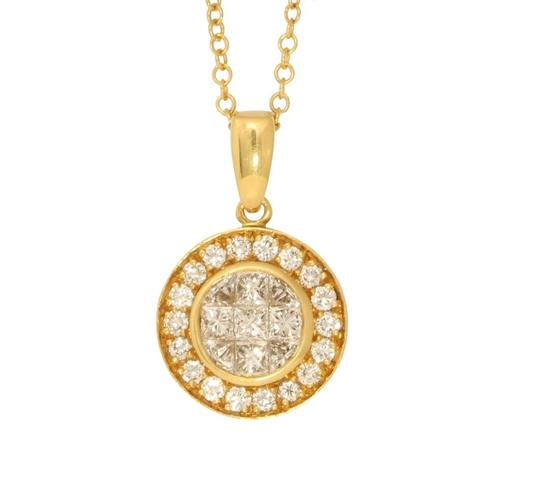 Preload https://img-static.tradesy.com/item/24978655/gold-princess-circular-diamond-pendant-with-bezel-101-ct-c31000175-necklace-0-0-540-540.jpg