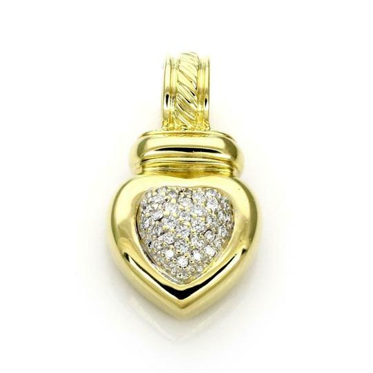 Preload https://img-static.tradesy.com/item/24978877/david-yurman-59632-pave-diamond-18k-yellow-gold-heart-pendant-charm-0-0-540-540.jpg