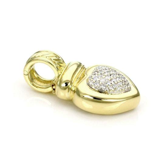 David Yurman Pave Diamond 18k Yellow Gold Heart Pendant Image 2