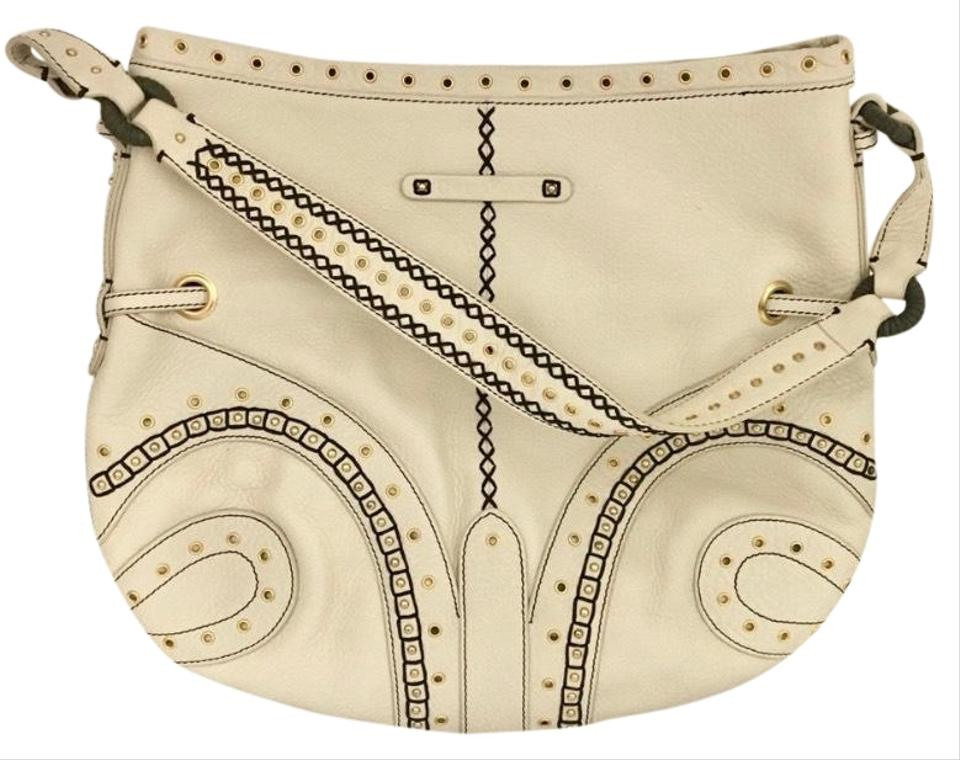 e183448fa5 Cole Haan Village Grommet Sp06 Ivory Leather Cross Body Bag - Tradesy