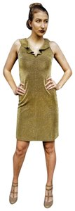 Morgano Italy Expensive Couture Metallic Lame' Dress