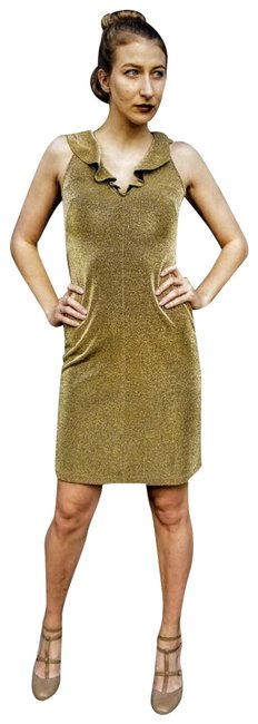 Preload https://img-static.tradesy.com/item/24978910/gold-pricey-vintage-1990s-body-con-lame-mini-short-cocktail-dress-size-2-xs-0-1-650-650.jpg