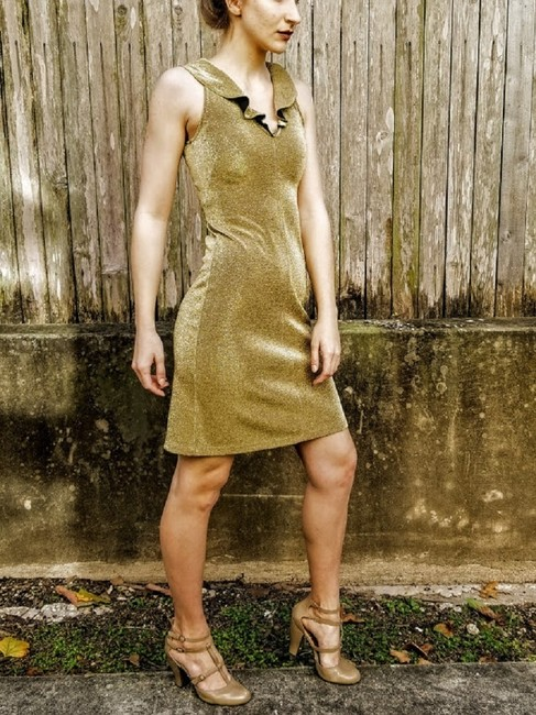 Morgano Italy Expensive Couture Metallic Lame' Dress Image 1