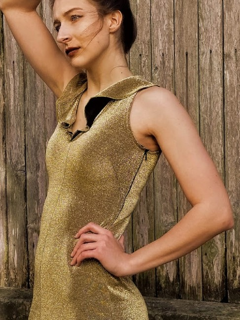 Morgano Italy Expensive Couture Metallic Lame' Dress Image 2