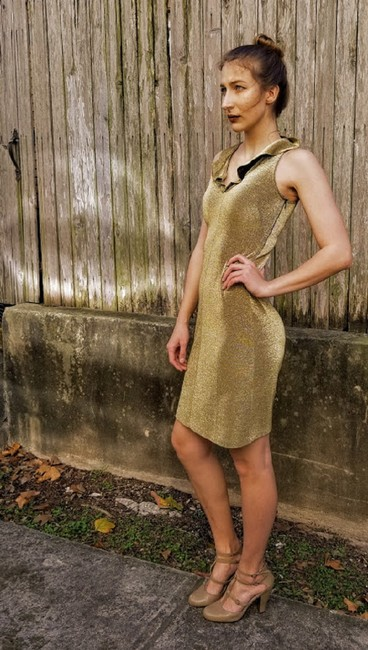 Morgano Italy Expensive Couture Metallic Lame' Dress Image 3