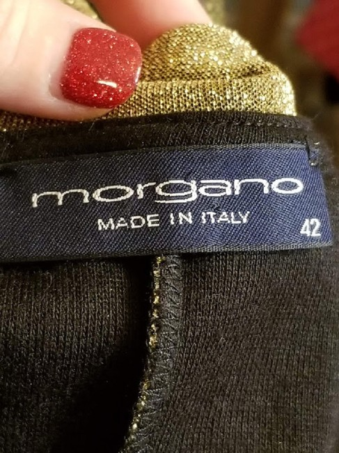 Morgano Italy Expensive Couture Metallic Lame' Dress Image 6