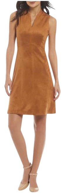 Preload https://img-static.tradesy.com/item/24978916/alex-marie-tan-gene-faux-suede-mid-length-night-out-dress-size-4-s-0-1-650-650.jpg