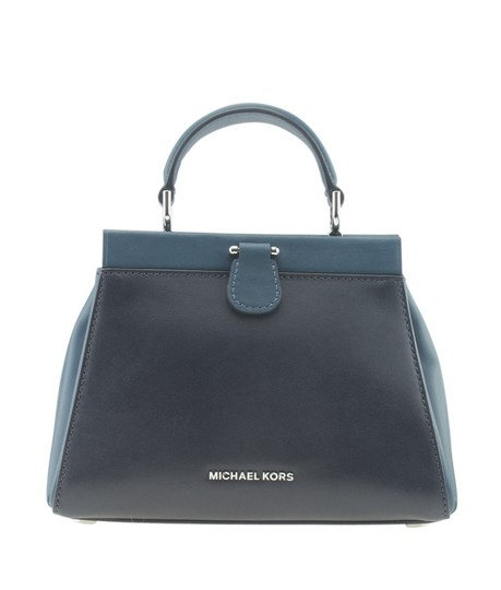 Michael Kors Leather Tags Removable Tote in BluexBlack Image 4