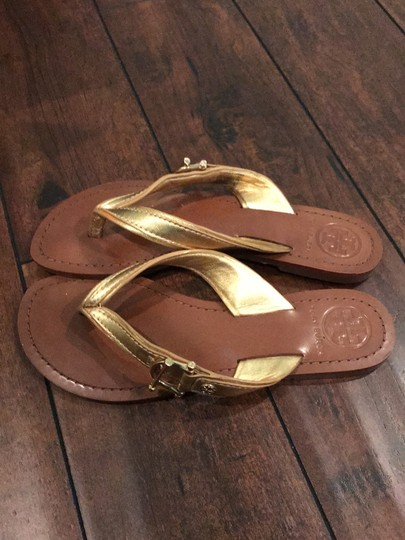 Tory Burch gold Sandals Image 2