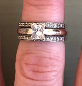 Princess Cut Solitaire W/ Bands Engagement Ring