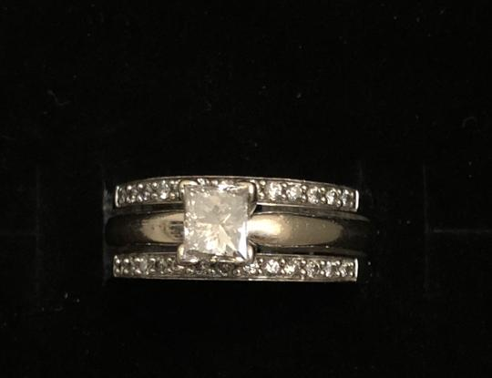 Princess Cut Solitaire W/ Bands Engagement Ring Image 1