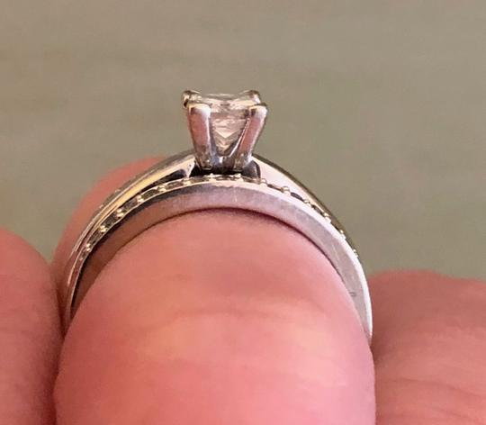 Princess Cut Solitaire W/ Bands Engagement Ring Image 2