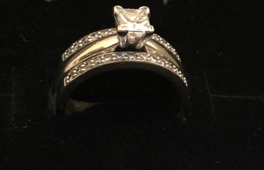 Princess Cut Solitaire W/ Bands Engagement Ring Image 3