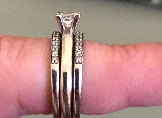 Princess Cut Solitaire W/ Bands Engagement Ring Image 4