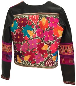 La Matilde Embroidered Mexican Hand-made Leather Jacket