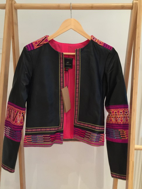 La Matilde Embroidered Mexican Hand-made Leather Jacket Image 1