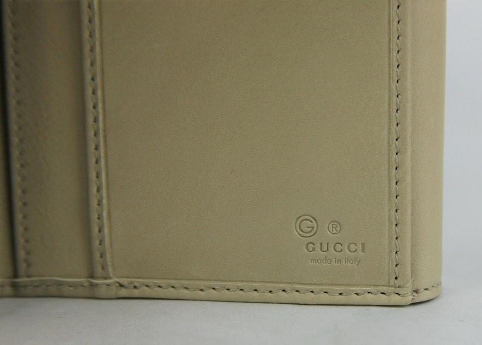 91f1c0dec9a8 Gucci Women's Beige Brown Trifold Wallet with Coin Pocket 231835 2609 Image  8. 123456789