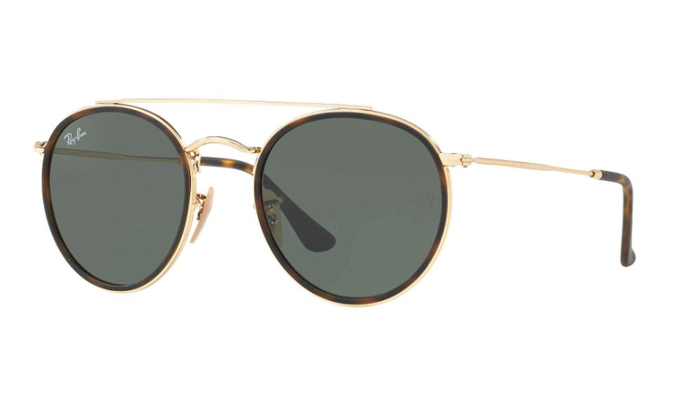 2a8fe70aac Ray-Ban Gold Rounded Ray Ban Sunglasses RB 3647 -FREE 3 DAY SHIPPING ...