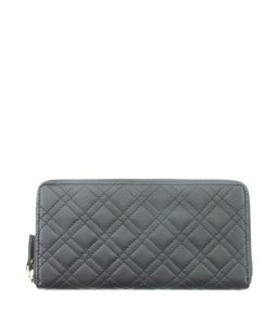 Collection XIIX Collection XIIX Black Quilted Leather Zippered Wallet (167769)