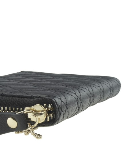 Collection XIIX Collection XIIX Black Quilted Leather Zippered Wallet (167769) Image 5