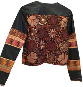 La Matilde Embroidery Mexican Leather Jacket